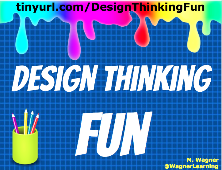 design thinking fun colorful poster