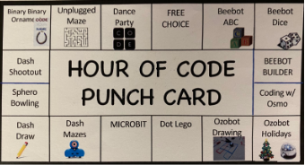 hour of code punch code