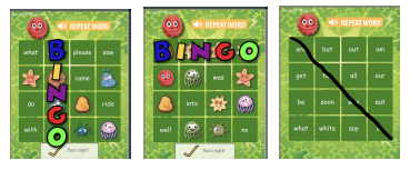 Sight Word Bingo Cards