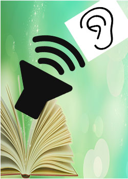 book with speaker and an ear for text to speech