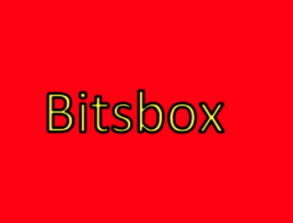 Red box with Bitsbox on it