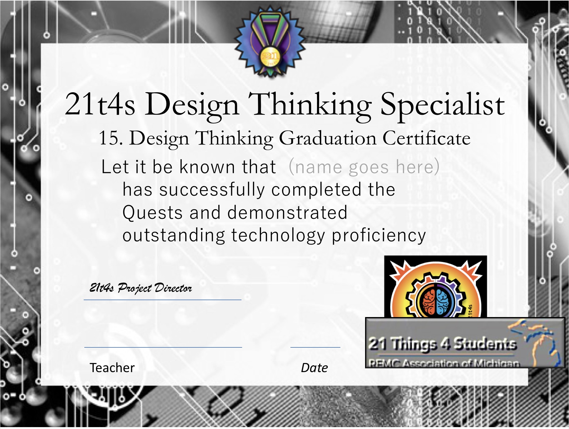 Design Thinking Specialist Graduation Certificate image