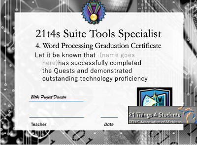 Suite Tools Specialist Award Certificate