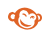 picmonkey icon showing a tan monkey face with ears and smiling