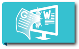 Icon for Word Processing with a W and G for Word and Google