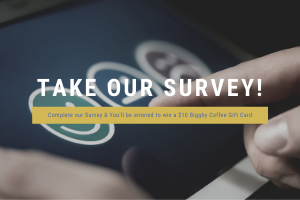Take our Survey for a chance to win Biggby Coffee!