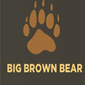 A Brown bear paw with the title Big Brown Bear for beginning typing skills