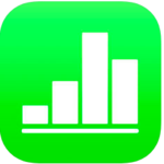 Apple ios numbers app icon