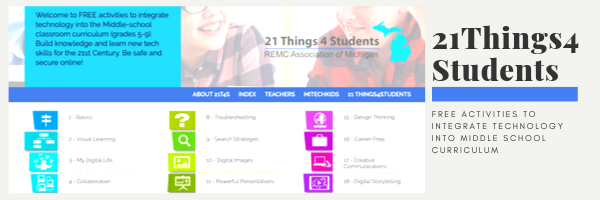 21-Things-4-Students is Project-Based Curriculum for Grades 5-9