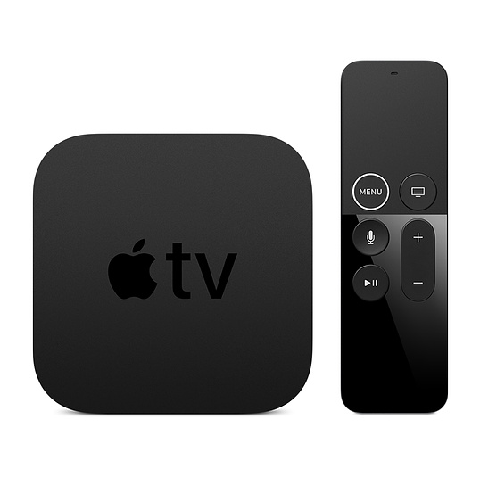 picture of apple tv (black box) and its remote
